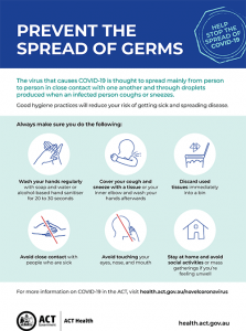 Prevent the spread of germs
