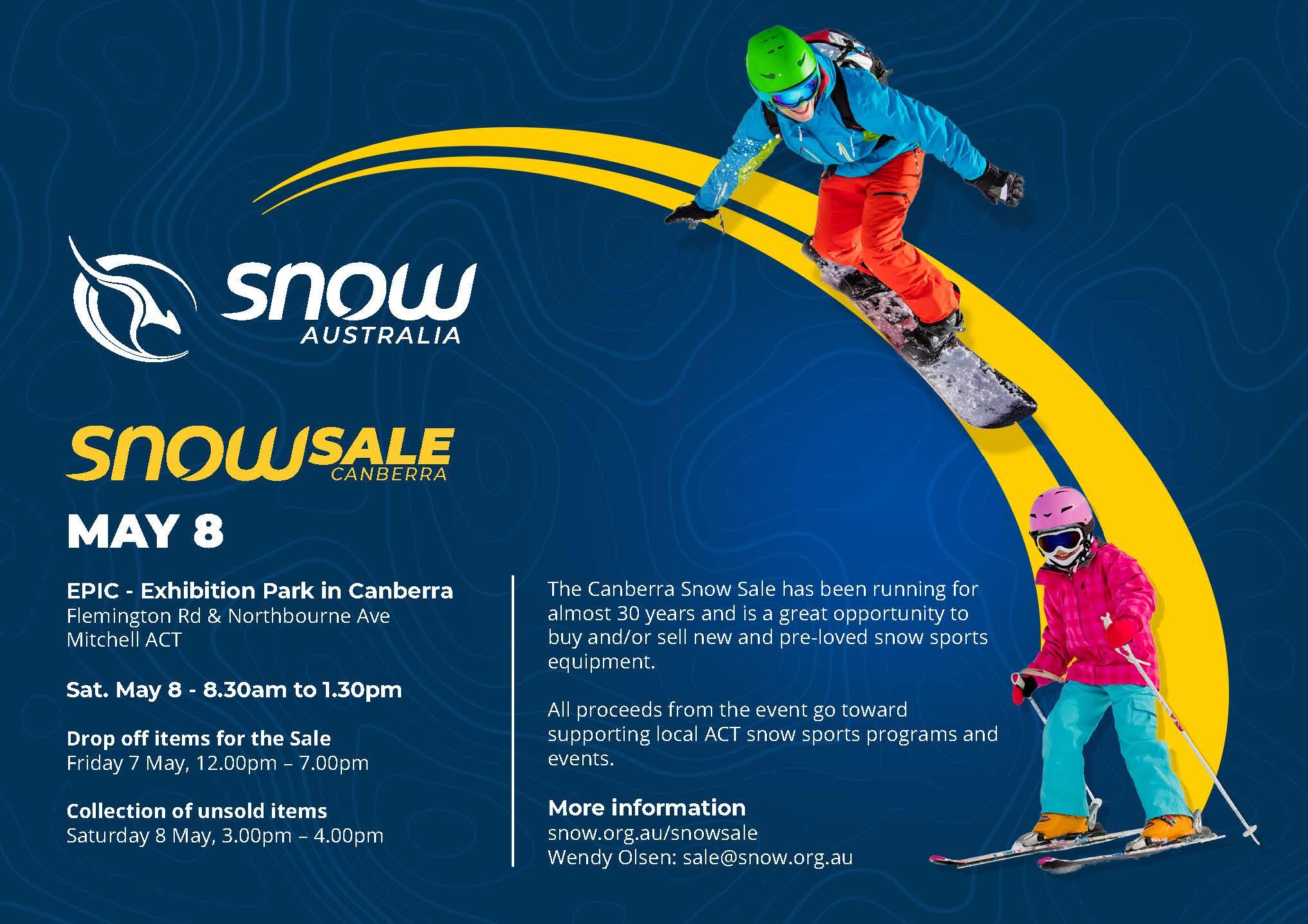 Snow Sale Canberra 2021